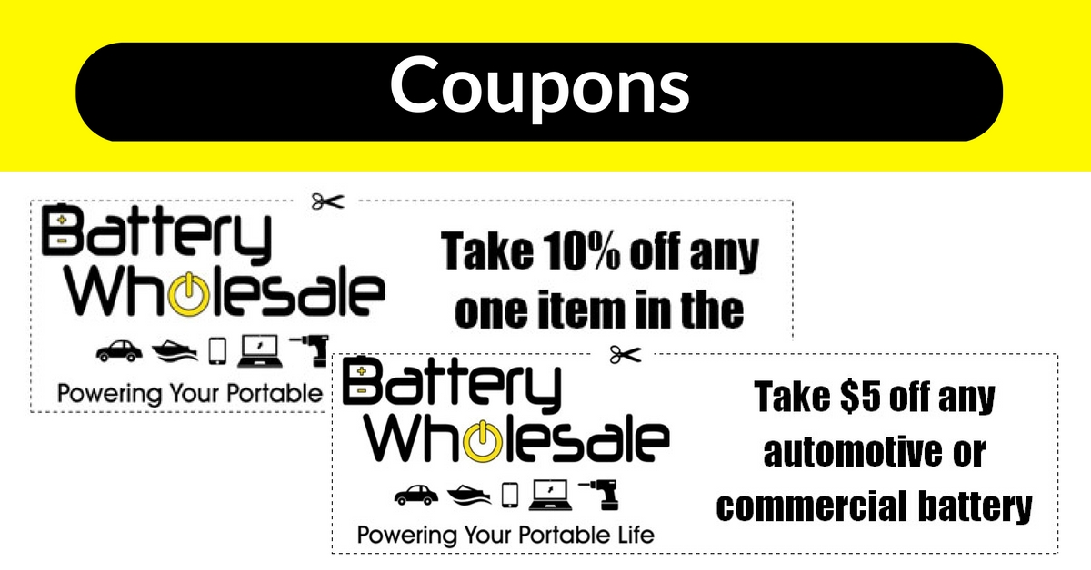 Batteries for Cars, Trucks, Marine, Home, Medical in Toledo Ohio coupons | Battery Wholesale